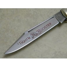 Fight'n Rooster Germany Jigged Bone Red Etch Stockman Knife
