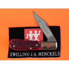 J A Henckels 1 Single Blade, Hand Forged Barlow (HK-14-B) with Premium Red Pick Bone Handles