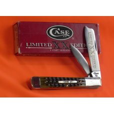 Case xx 1996 Razor Knife with Greenish Pick Bone Handles -One of 2500 -NOS +Orig box