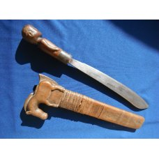 Rare Vintage Indonesian West Sumba Sword Machete Brought back by a WWII Veteran