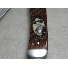 "Remington Bullet Madison NC USA Riders of the Silver Screen ""Gene Autry""  Trapper Knife"