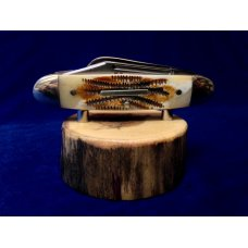 2 Piece Pocket Knife Display Stand  Natural Lodge Pole Driftwood from the Big Lost River Idaho