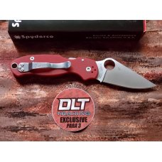 Spyderco Para 3 DLT Trading exclusive with M390 blade steel. Red G-10 handles. BNIB. C223GPRD