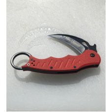 FOX Karambit Folder - strong solid lock-up Red G-10 scales pocket clip Very sharp