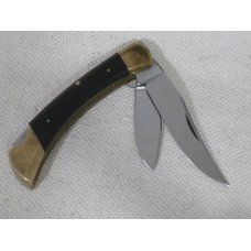Browning Japan Two Blade Lockback Pocket Knife with Leather Pouch Unused