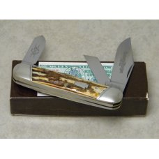 Schatt & Morgan Titusville PA. 2005 Stag 033163 Rail Splitter Stockman Knife in Box