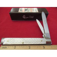 Queen Cut Co Checkered Pearl Doctors Knives Pattern # 96
