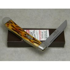 Schatt & Morgan Titusville PA USA Bone 041005 Wharncliffe Large Slimline Clasp Knife in Box