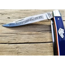 KABAR 1976 BICENTENNIAL RED WHITE AND BLUE 2 BLADE