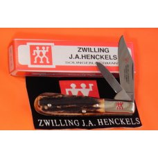 J A Henckels Hand Forged Barlow HK16-S with Super Gnarly Stag Handles -Hand Honed -NOS Orig Box