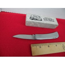 "UNITED UC306 STAINLESS 3-1/4"" LOCKBACK DESERT STORM COMMEMORATIVE KNIFE IN BOX"