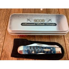Case Small Cheetah CCC Club Knife for 2005 in Mediterranean Blue Bone