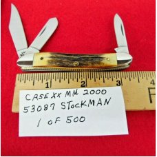 CASE XX MM 2000 UNUSED 53087 STAG STOCKMAN ONE OF 500