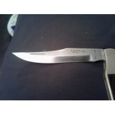 "4"" LONG R ZAFRILLA ALBACETE INOX MADE IN SPAIN BRASS AND WOOD HANDLE WITH 3 5/8"" STAINLESS BLADE"