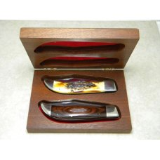 Parker-Frost American Bicentennial Series by Alcas Cutlery Clasp Knife Set in Box c1976