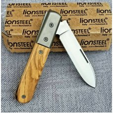 "LION STEEL Roundhead Spear JACK KNIFE,Olive Wood,NO GEC CASE,MIB,3.75"" CLSD,2019"