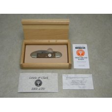 Boker Solingen Germany 2002 LTD Walnut Wood quotLewis amp Clark Expeditionquot Canoe Knife in Box