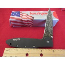 Kershaw Black Damascus Leek Model # 1660CKTDAM
