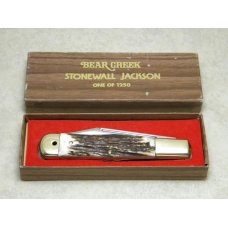 Bear Creek Taylor Cutlery Kingsport Tenn Stag Stonewall Jackson Coke Bottle Knife in Box c1979
