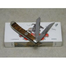 Winchester USA Burl Celluloid 20004 12 Trapper Knife in Box c1994 - Hornet Series 22 Hornet