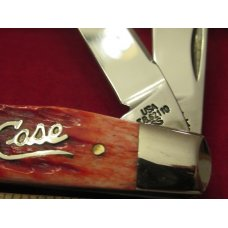 Case XX 2004 Red Bone,  Silver, Script Saddlehorn  Pattern # TB62110SS