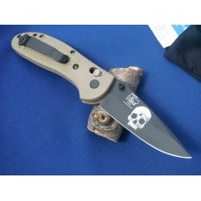 Benchmade 551BKSN-AS GRIPTILIAN Special edition custom laser markings AmericanSnipersorg logo Skull