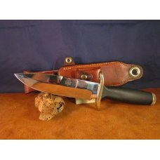 SOLD 70's Bianchi Nighthawk 855 knife with Bianchi leather sheath 0120