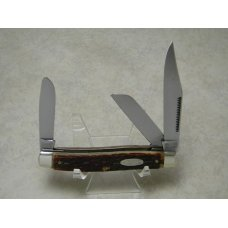 Bower Ru-Ko Solingen Germany Jigged Bone Medium Stockman Knife