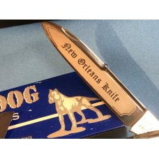Bulldog Brand Anglo Saxon Whittler w/ Great Red Bone Handles +New Orleans Knife Blade Etch -5 & 1/4""
