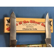 Vintage Camillus 2 Blade Large Cigar Knife w/ Riders of the Silver Screen Handles -Dale Evans -NOS
