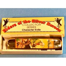 Vintage Camillus 2 Blade Large Cigar Knife w Riders of the Silver Screen Handles -Roy Rogers -NOS