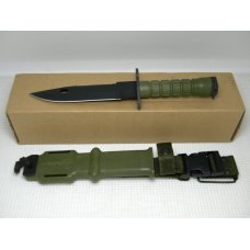 Ontario Knife Co USA Green M-9 Bayonet Fixed Blade Knife amp Scabbard in Box