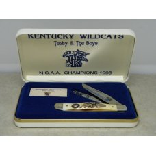 Case XX USA 1998 NCAA Champs Kentucky Wildcats Tubby & The Boys Stag 5254 SS Trapper Knife in Box
