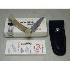Case XX Stainless USA 8 Dot (1972) Curly Maple 7197 LSSP Shark Tooth Lockback Knife in Box