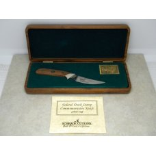Schrade  USA LTD 199798 Federal Duck Stamp Commemorative Fixed Blade Knife in Box