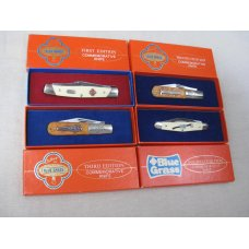 BELKNAP INC BLUE GRASS COMMEMORATIVE KNIVES 1st 2nd 3rd 4th EDITIONS