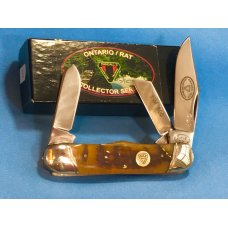 Ontario Rat Collectors Series Rail Splitter Stockman w Beautiful Rams Horn Handles by Canal Street