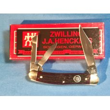 Zwilling  J A Henckels 3 Blade Whittler pocket knife w Nice Red Bone Handles - NOS -NM