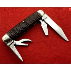 Vintage **RARE** NEW YORK KNIFE Co 4-Blade  No. BB4 Buffalo Bill Scout Pocket Knife c1914