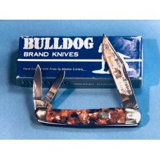 1993 Bulldog Brand 3 Blade Whittler w Vibrant Multi Colored Handles amp Frost amp Blade Etch -1 of 60