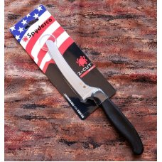 Spyderco Z-Cut kitchen knife. Black round tip. Made in the USA. Brand new. K13PBK