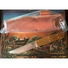 BARK RIVER PUUKKO KNIFE CMP-3V Natural Canvas Micarta Handle NIB