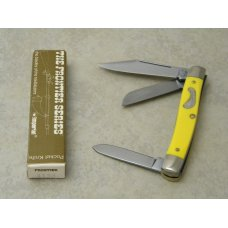 Frontier 4133 by Imperial Yellow Medium Stockman Knife in Box Made in USA