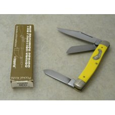 Frontier 4433 by Imperial Yellow Large Stockman Knife in Box Made in USA