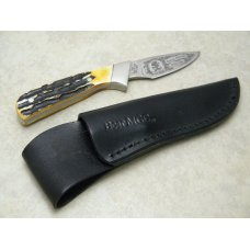 Bear USA Bone Hunting Heritage Collection North American Hunter Fixed Blade Sheath Knife