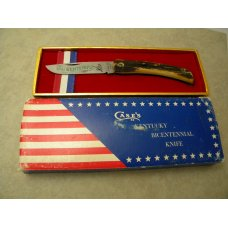 Case XX USA 1976 Stag 5137SS Kentucky Bicentennial Sodbuster Knife - In Box