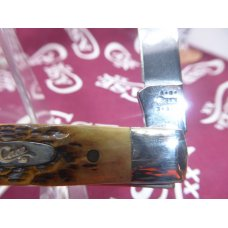 6185 Case Doctors Knife Burnt Antique Jigged Bone 2001