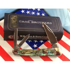 Case xx Brothers Seahorse Whittler MDL 8355WH SS w Genuine Paua Shell Abalone Handles -NOS -Mint