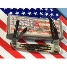 Case xx Club Member Whittler Pocket Knife 6355 WH SS w Beautiful Bone Handles amp CCC Shield -NOS