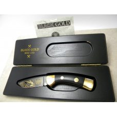 Boker Solingen Germany quotBlack Gold 1992 LTDquot Etched Lockback Knife in Box